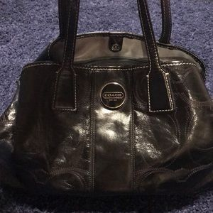 large black coach purse